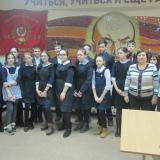 Семиклассники школы № 21 с классным руководителем И.И. Блинковой и членами Совета музея.