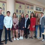 Группа Арх-31 с классным руководителем Ириной Евгеньевной Машковой в музее колледжа.