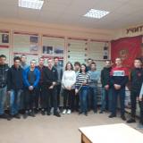 Группа М-41 с классным руководителем Тамарой Васильевной Кригер.