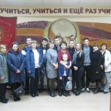 Учащиеся группы М-41  с родителями и классным руководителем Т.В. Кригер.