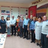 Выпускники группы 72-4-БС с руководителем музея Р.К. Садыковой и экскурсоводом Е.  Трутневой.