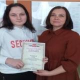 Заместитель директора по воспитательной работе Н.А. Асташина со членом Совета музея Алиной Кузьминой.