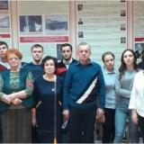 Участники Урока мужества «Они сражались за Родину» в музее.